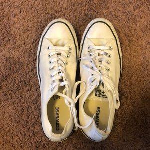 Men's converse Sz 11 white/cream
